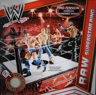 ... WWE RAW SUPERSTAR WRESTLING RING MATTEL TOY ACTION PLAYSET ...