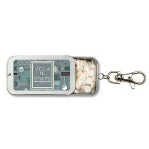 Wedding Favors Green Wine Bar Theme Personalized Key Chain