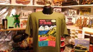 100 toy soldiers large black t shirt this is a