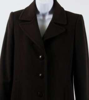 New $800 L. L. Collezioni Italia 100% Cashmere Coat Chocolate Brown 2P
