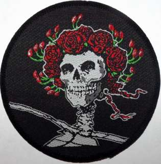 GRATEFUL DEAD Rare Original Woven Sew On Patch Unused 1990`s