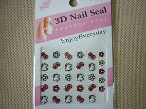 Hello Kitty 3D Design Nail Art Stickers   BRAND NEW IN PACKET (HK02
