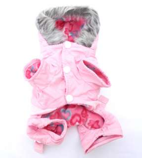 Pink Dog Hoodie Warm Winter Coat Jacket Jumpsuit APPAREL3 size