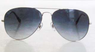 RAY BAN Aviator Sunglasses RB 3026 003/32 LARGE Silver Gradient NEW