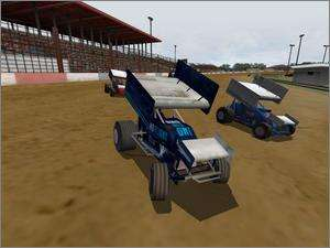 Dirt Track Racing Sprint Cars PC CD outlaw drivers winged car race