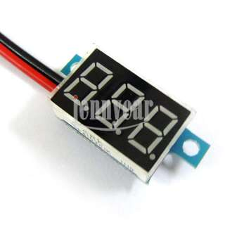 Mini Digital Voltmeter Panel 3.3 30V Red LED Vehicles Motor Voltage