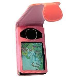 Pink Leather Flip Case for Zune 80/120 GB  Players & Accessories