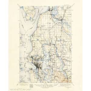 USGS TOPO MAP SNOHOMISH QUAD WASHINGTON (WA) 1895
