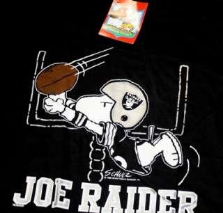 Vintage Snoopy LA Raiders t shirt NWT nfl N.W.A Eazy E