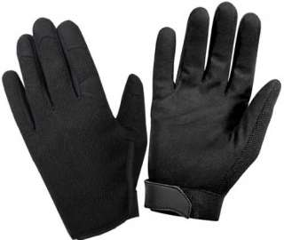 Black Police/Security Ultra Light High Performance Activewear Gloves
