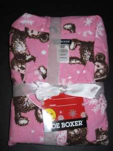 Joe Boxer Womens Pajamas Pink Teddy Bear XL New