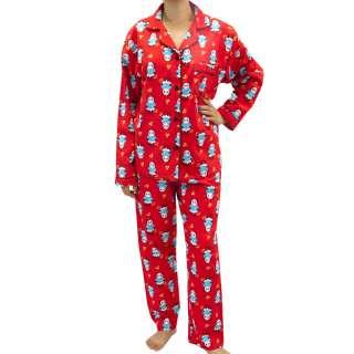 Leisureland Womens Flannel Pajamas Pyjama Set Top Pants Love & Luck
