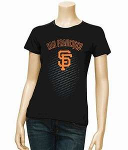 San Francisco Giants MLB Ladies Black Distinctive Edge T shirt