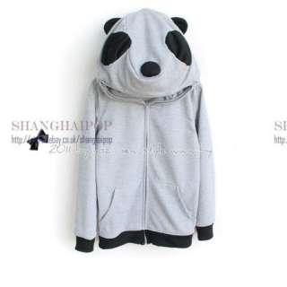 Panda Hoody Women Hooded Hoodie Girl Sweatshirt Sweat Zip Jacket Marl