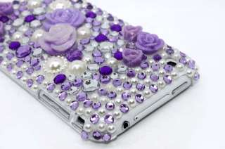 3D Purple Flower Bling Hard Case Cover iphone 3G 3GS