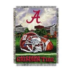 Alabama Crimson Tide Woven Tapestry NCAA Throw (Home Field Advantage
