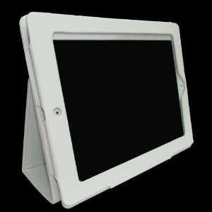 Wireless White Leather Case Pouch Holder Stand Cover for Apple iPad 2