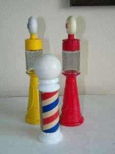 Lot Avon Remember When Gas Pump Barber Pole Cologne Bottle 4517