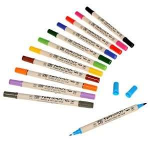 Zig TC4000 Fabricolor Twin Tip Fabric Marker Pen 25pc Set