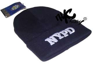 NYPD WINTER BEANIE KNIT CAP HAT NEW YORK OFFICIAL LICENSED EMBROIDERED