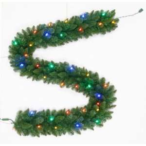 Trim a Home 9ft Chimes Pine LED Lighted Garland, Battery