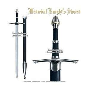 Medieval Long Sword Knights Sword Chivalry Golden Ring: