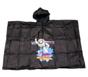 NEW DISNEY TOY STORY Buzz Lightyear Kids Boys Black Rain Coat Poncho