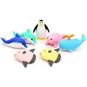 Iwako erasers marine animals 7 pieces set Toys & Games