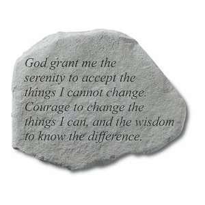 God Grant Me The Serenity Garden Stone Patio, Lawn