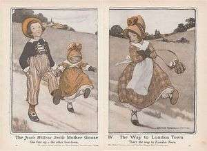 1913 Print Way to London Town by Jesse Willcox Smith