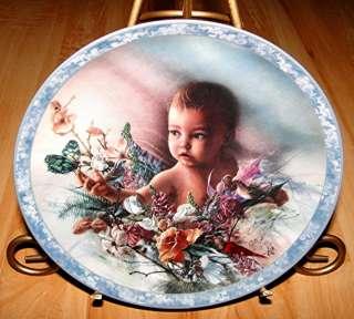 HEAVEN SENT Precious Gift LEE BOGLE Bradford Exchange Baby Angel PLATE