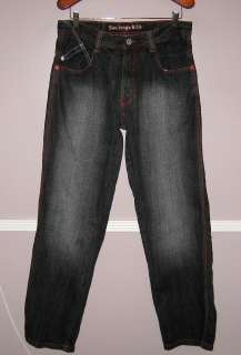 Mens 5IVE JUNGLE Black Denim Jeans Size 34X34