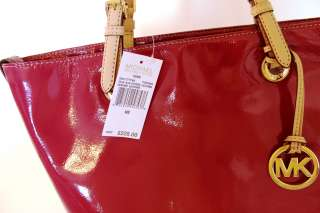 MICHAEL KORS ITEMS ELECTRIC PINK FUSCHIA LEATHER GRAB BAG TOTE EXCESS