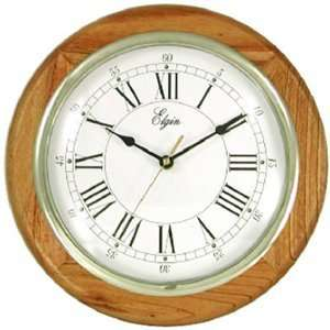 Geneva Clock #3976E 13 Round Oak Wall Clock Kitchen