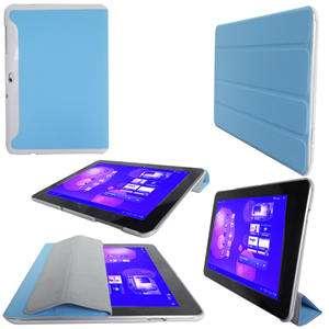 Blue Slim Smart Leather Case Samsung Galaxy Tab 10.1 P7510