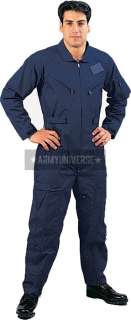Navy Blue Military Air Force Style Flight Suit Coveralls