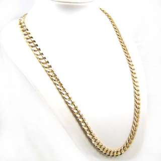 23.774g MEN GIFT 18K GOLD GEP CHAIN SOLID GP NECKLACE