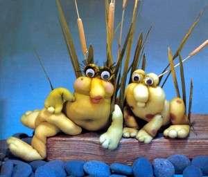 18 Soft Sculpture Chicken Frogs Reindeer Bugs Dolls++