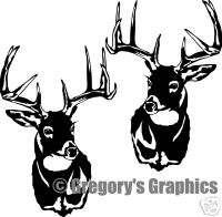 Whitetail Deer pair of buck decals ARTISTIC LOOK