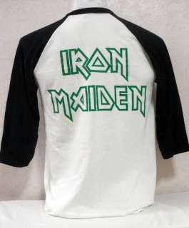 New Iron Maiden baseball jersey shirt punk rock band tour 38 M
