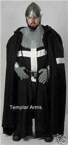 MEDIEVAL BLACK KNIGHT TUNIC & CAPE   Latin X   SCA LARP