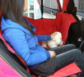 Car Auto Pet Dog Cat Black 3D Waterproof Hammock Seat Cover Protector