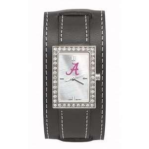 Alabama Crimson Tide (A) Ladies NCAA Starlette Watch (Wide Leather
