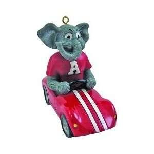Alabama Crimson Tide UA NCAA Mascot Race Car Ornament