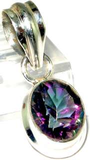 Latest collection Rainbow mystic topaz.925 SILVER Pendant 1