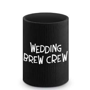 Wedding Brew Crew Can Koozie Kichen & Dining