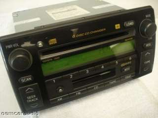 2004 Toyota CAMRY JBL Radio Tape 6 Disc CD Changer 86120 AA060 A56820