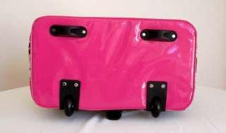 Computer/Laptop Bag Tote Duffel Rolling Wheel Travel Pink Zebra