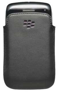 GENUINE BLACKBERRY 9790 BOLD BLACK & PURPLE LEATHER CASE POUCH   ACC