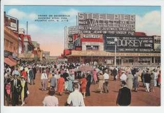 Steel Pier Atlantic City New Jersey NJ Linen Old Postcard Vintage Rudy